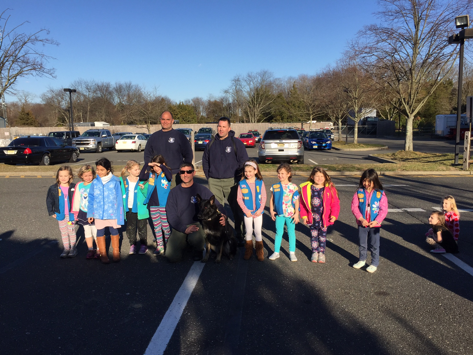 daisy troop 1864 visit to wall police department  u2013 wall